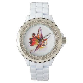 """Relógio De Pulso De """"impressão vermelho do colibri Lil"""""""