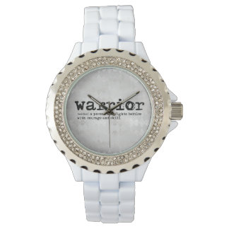 Relógio De Pulso Definição de prata do guerreiro