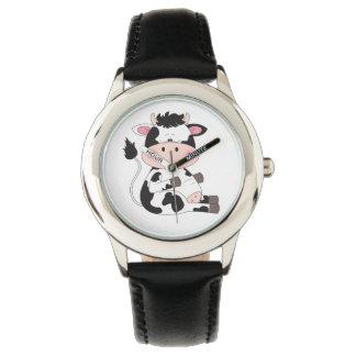 Relógio De Pulso Desenhos animados bonitos da vaca do bebê