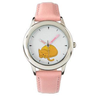 Relógio De Pulso Desenhos animados do sono do gato do gatinho