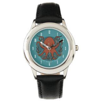 Relógio De Pulso Desenhos animados vermelhos ferozes dos tentáculos