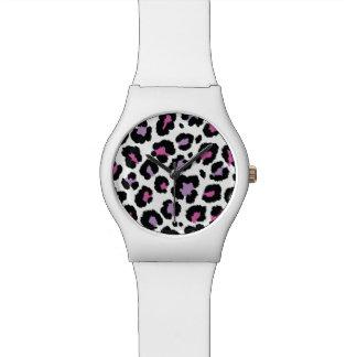 Relógio De Pulso Design colorido do teste padrão animal do