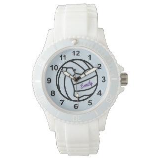 Relógio De Pulso Design conhecido personalizado da bola do Netball