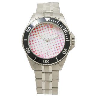 Relógio De Pulso Design de explosão cor-de-rosa da banda desenhada