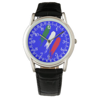 Relógio De Pulso Design de Tricolore da bandeira de Italia do