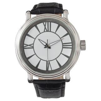 Relógio De Pulso Design rebitado industrial do metal-olhar