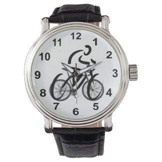 Relógio De Pulso Design temático da bicicleta do ciclista