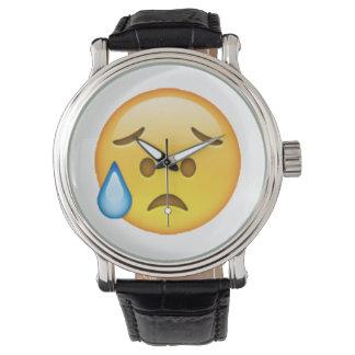 Relógio De Pulso Disappointed mas aliviado - Emoji