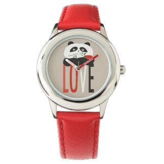 Relógio De Pulso Do amor bonito dos desenhos animados da panda
