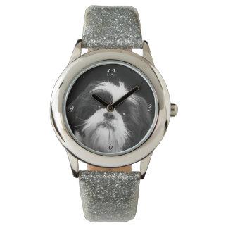Relógio de pulso do brilho do cão de Shih Tzu