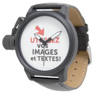Relógio De Pulso do-it-yourself-frenchImprimer as vossas concepções