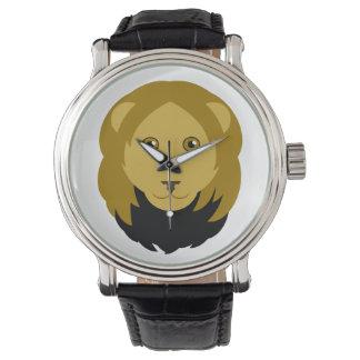 Relógio de pulso do leão dos desenhos animados