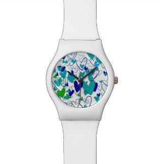 Relógio De Pulso Do teste padrão à moda poderoso do coração do amor