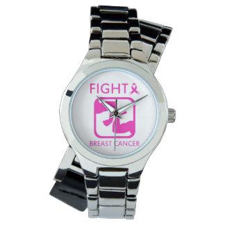 Relógio De Pulso Dobrando os braços para lutar o cancro da mama