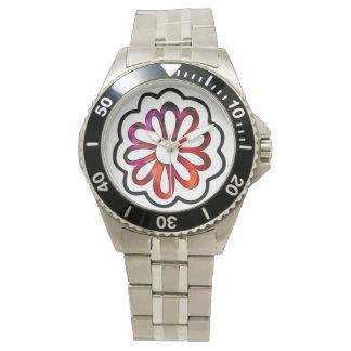 Relógio De Pulso Doodle lunático de flower power