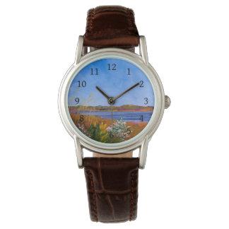 Relógio de pulso dourado do Rio Delaware