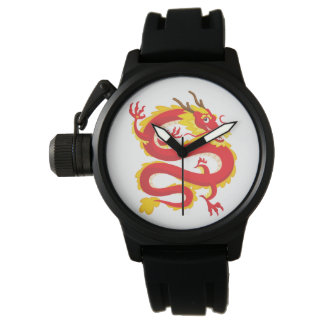 Relógio De Pulso Dragão do chinês tradicional