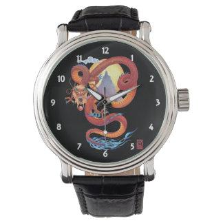 Relógio De Pulso Dragão vermelho chinês