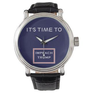 Relógio De Pulso É hora de acusar o azul branco vermelho do trunfo
