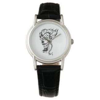 Relógio De Pulso E-relógio mau do palhaço para mulheres