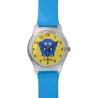 Relógio De Pulso Elefante engraçado bonito dos desenhos animados