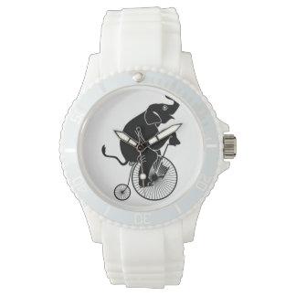 Relógio De Pulso Elefante que monta uma bicicleta
