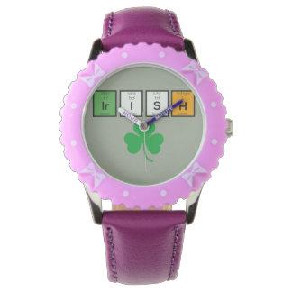 Relógio De Pulso Elementos químicos irlandeses Zc71n