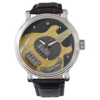 Relógio de pulso elétrico da guitarra baixa