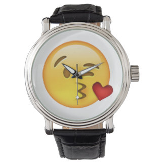 Relógio De Pulso Emoji - beijo de jogo