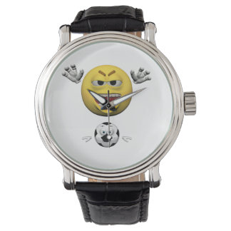 Relógio De Pulso Emoticon amarelo ou smiley do futebol