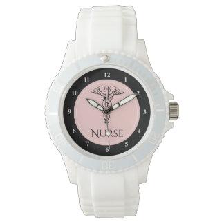 Relógio De Pulso Enfermeiras médicas do símbolo | RN do Caduceus
