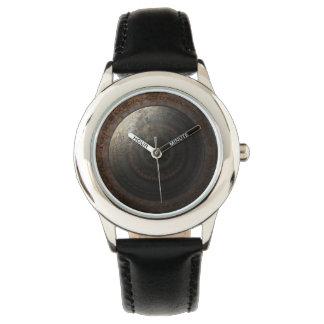 Relógio De Pulso Engrenagens do metal da horas da lua de Steampunk