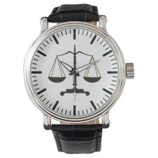 Relógio De Pulso Escalas elegantes presentes da lei de justiça |