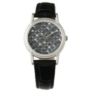 Relógio De Pulso Escalas preto e branco de Falln