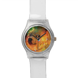Relógio De Pulso espaço - doge - shibe - uau doge