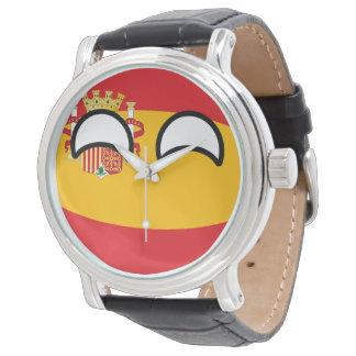 Relógio De Pulso Espanha Geeky de tensão engraçada Countryball