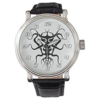 Relógio De Pulso Espécie tribal estrangeira 273 do tatuagem preto e