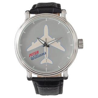Relógio De Pulso estilo aero para um piloto ou ar-amantes