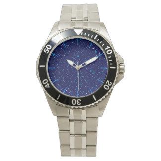 Relógio De Pulso Estrelas azuis 2