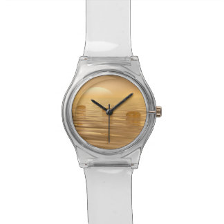 Relógio De Pulso Etapas no oceano - 3D rendem