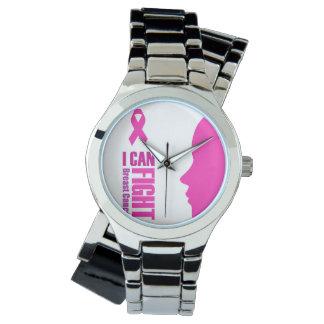 Relógio De Pulso Eu posso lutar mulheres do apoio ao cancer de mama