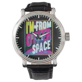 Relógio De Pulso Eu sou do espaço da lontra - novidade bonito do