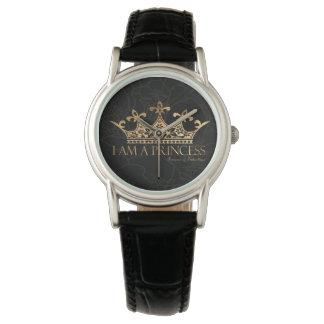 Relógio De Pulso Eu sou um couro clássico das mulheres da princesa