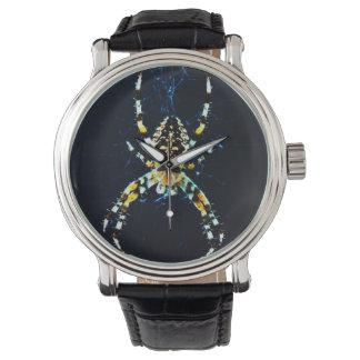 Relógio de pulso europeu da aranha de jardim