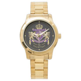 Relógio De Pulso Faça seu próprio emblema da coroa do monograma da