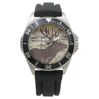 Relógio De Pulso Fanfarrão grande do Whitetail da cremalheira