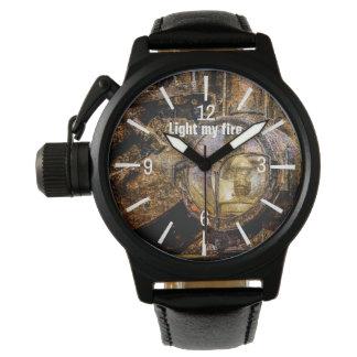 Relógio De Pulso Farol - ilumine meu customizável engraçado do fogo