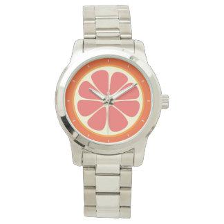 Relógio De Pulso Fatia doce suculenta dos citrinos da toranja