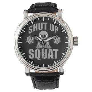 Relógio De Pulso Feche acima e ocupa - Weightlifter bonito de