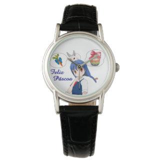 Relógio De Pulso Feliz Páscoa (Personalizável)
